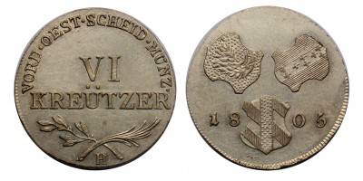 I.Ferenc Günzburg VI krajcár 1805 H