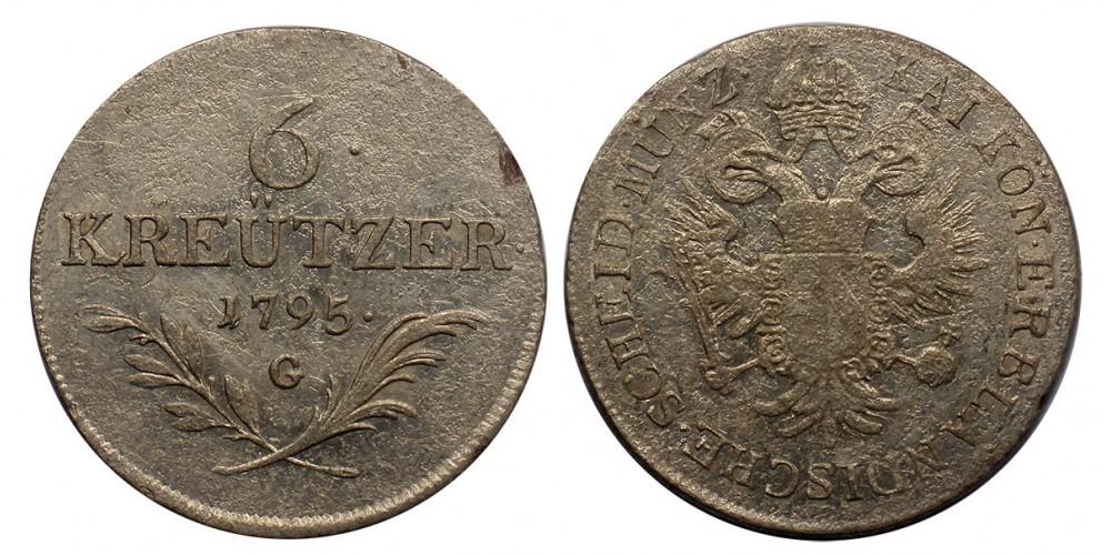 I.Ferenc 6 krajcár 1795 G