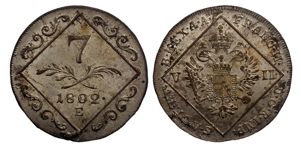 I.Ferenc 7 krajcár 1802 E