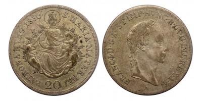 I.Ferenc 20 krajcár 1830 A