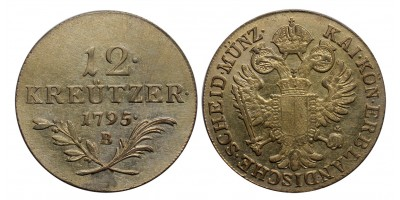 I.Ferenc 12 krajcár 1795 B