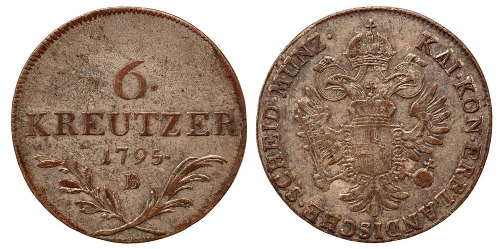 I.Ferenc 6 krajcár 1795 B