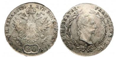 Francis II. 20 kreuzer 1830
