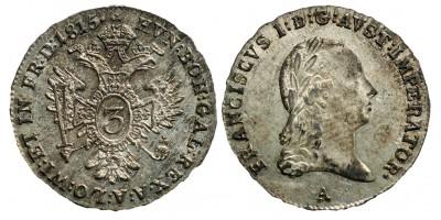 I.Ferenc 3 krajcár 1815 A