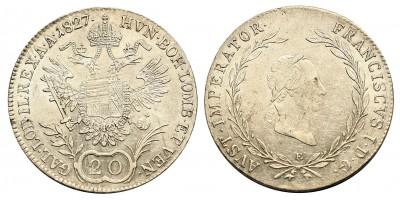 I.Ferenc 20 krajcár 1827 E
