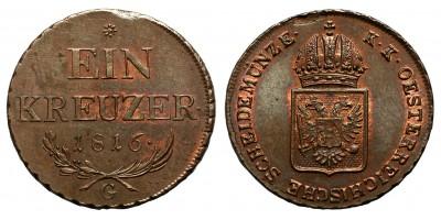 I.Ferenc krajcár 1816 G