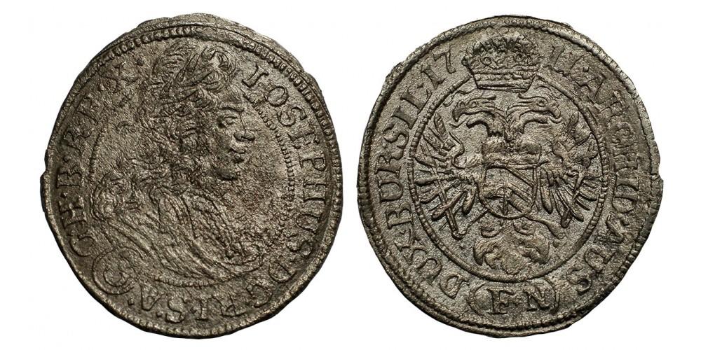 Joseph I. 3 kreuzer 1711 F-N Breslau
