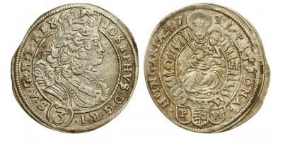 Joseph I. 3 kreuzer 1711 C-H