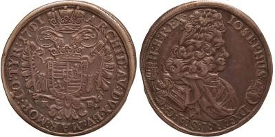 I.József 1/2 tallér 1711 KB