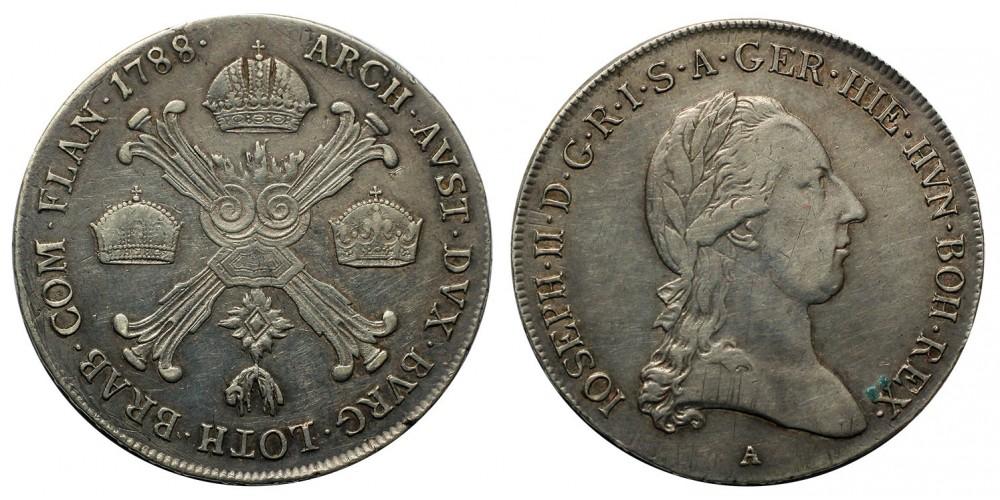 II.József 1/2 koronatallér 1788 A