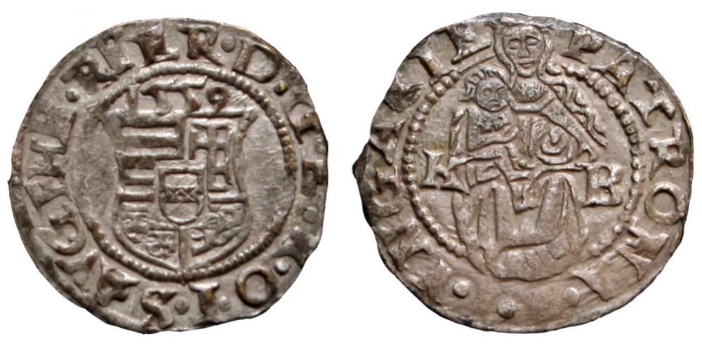 I. Ferdinánd denár 1559 KB ritka évszám (!)