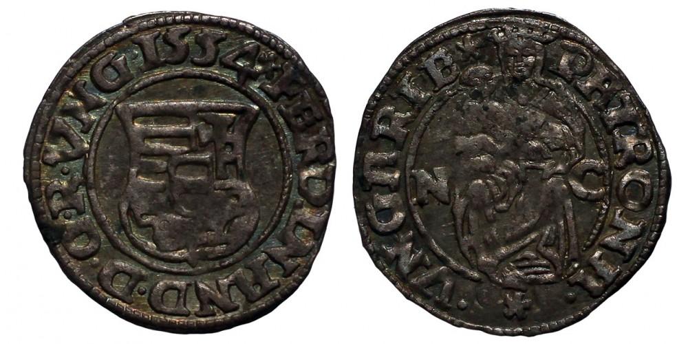 I.Ferdinánd denár 1534 N-C