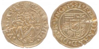 I. Ferdinánd denár 1531 C-liliom Kassa