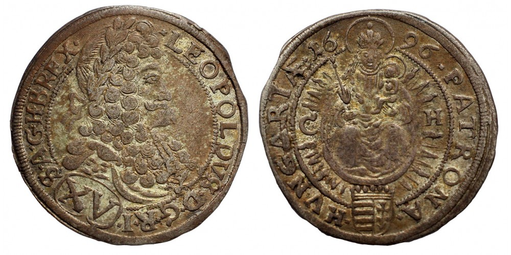 I.Lipót 15 krajcár 1696 CH Pozsony