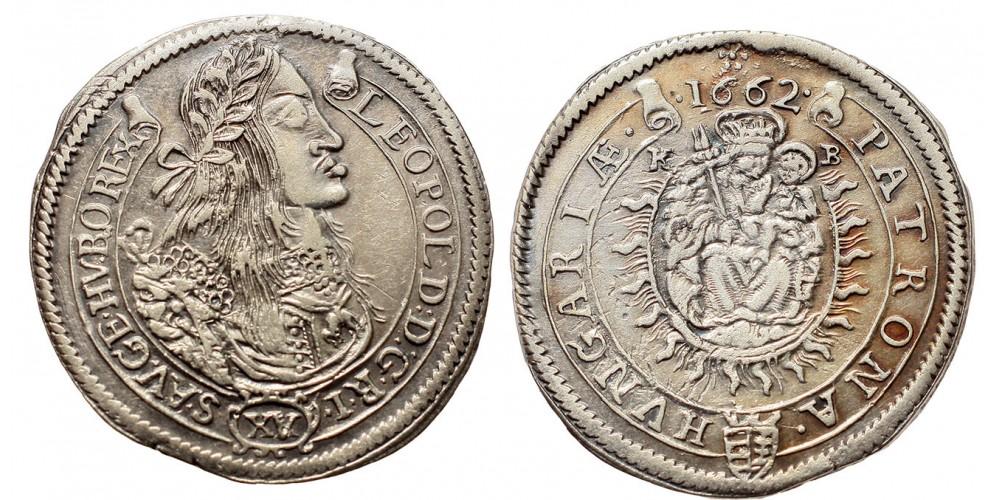 I.Lipót 15 krajcár 1662 KB