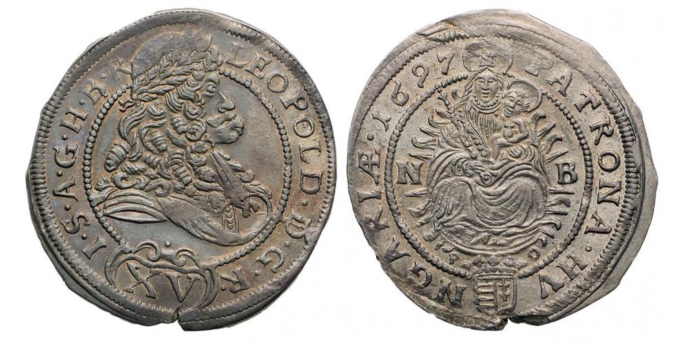 I.Lipót 15 krajczár 1697 Nagybánya