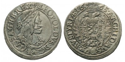I. Lipót 6 Kreuzer 1665 Graz