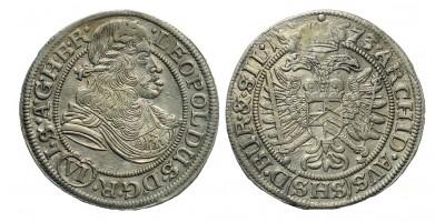 I. Lipót 6 Kreuzer 1673 Boroszló