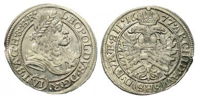 I. Lipót 6 Kreuzer 1677 Breslau