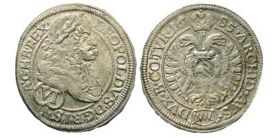 I. Lipót 6 Kreuzer 1685 Bécs