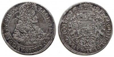 I.Lipót 1/2 tallér 1698 KB.