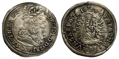 I.Lipót 15 krajcár 1678