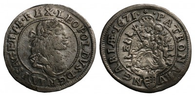 I.Lipót 6 krajcár 1671