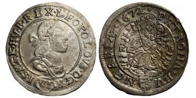 I.Lipót 6 krajcár 1672