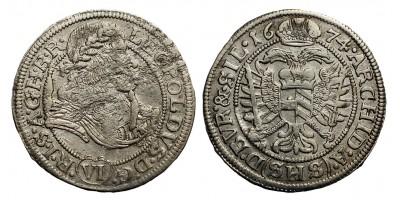 I.Lipót  VI krajcár 1674 SHS Breslau