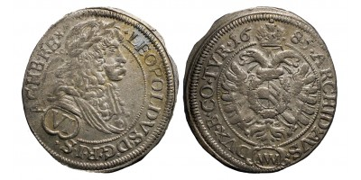 I.Lipót VI krajcár 1685 MM Bécs