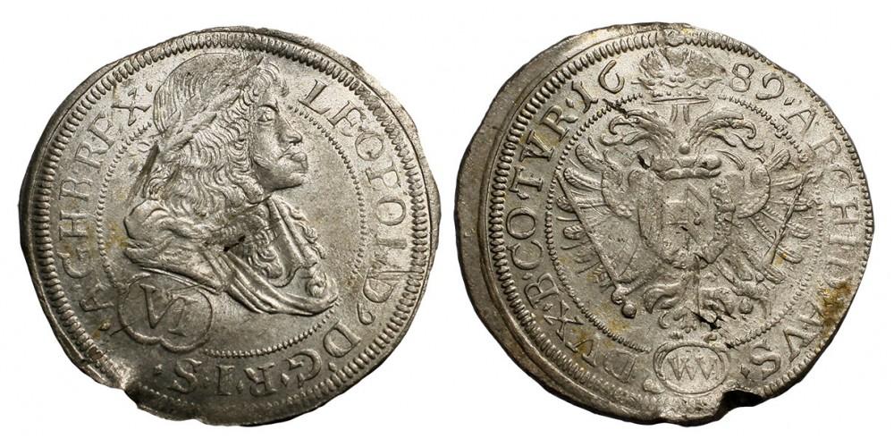 I.Lipót 6 krajcár 1689