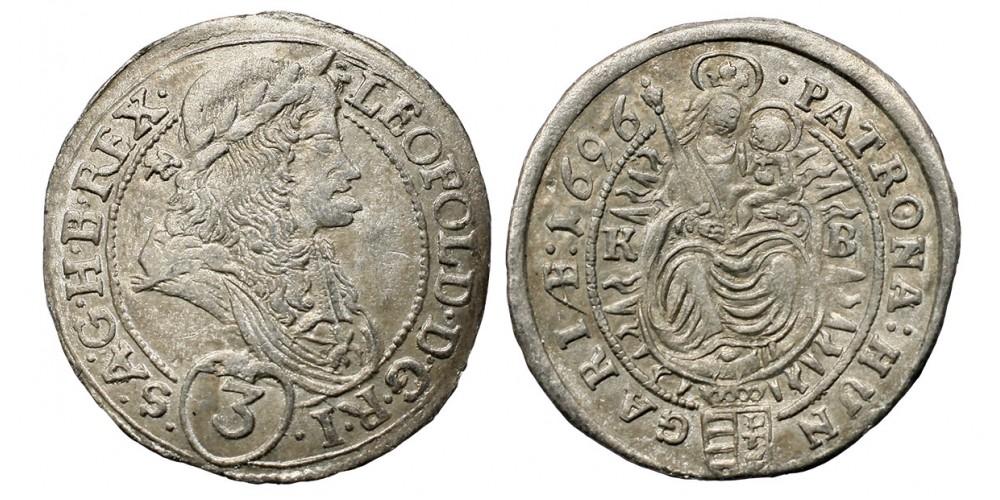 I.Lipót 3 krajcár 1696 KB