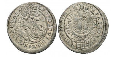 I.Lipót 3 krajcár 1698 C-H