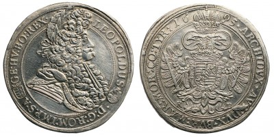 I.Lipót tallér 1695 KB.