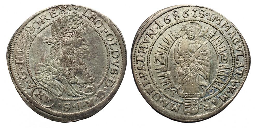 I.Lipót xv krajcár 1686 NB