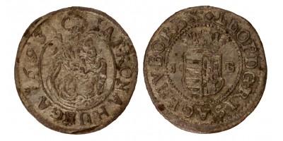 I.Lipót denár 1693 KB.
