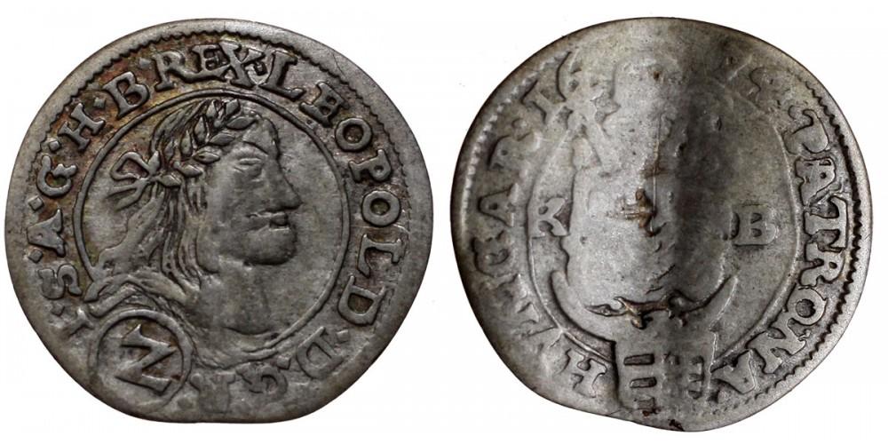 I.Lipót 2 krajcár 1674 KB.