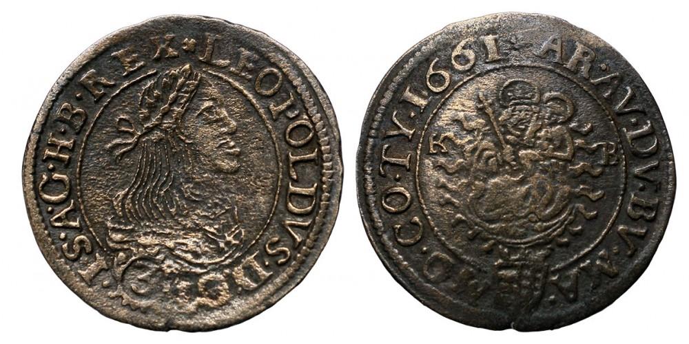 I.Lipót 3 krajcár 1661 KB