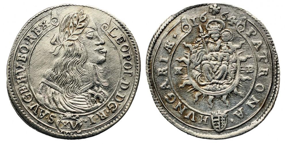 I. Lipót XV krajcár 1664 KB