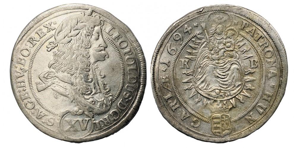 I. Lipót XV Krajcár 1694 KB