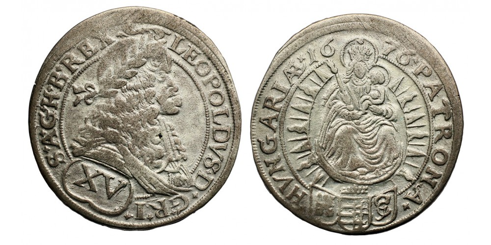 I.Lipót XV krajcár 1676 Pozsony
