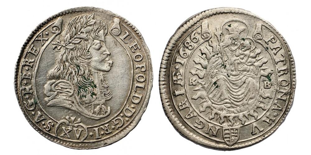 I.Lipót XV krajcár 1686 KB