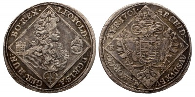 I. Lipót 1/4 tallér 1701 KB