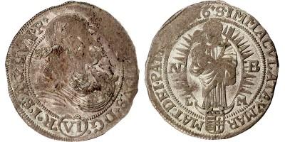 I.Lipót VI kreuzer 1676 NB-LM