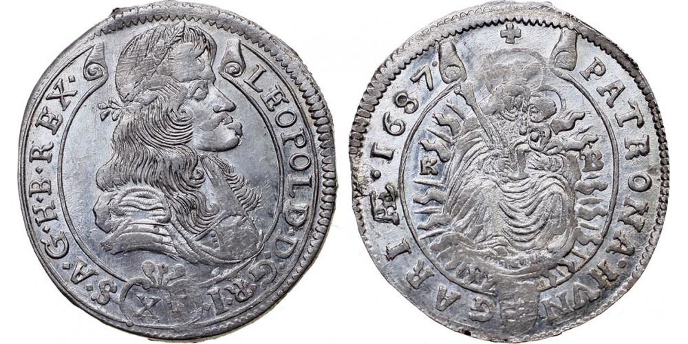 I.Lipót  XV  krajcár 1687 KB