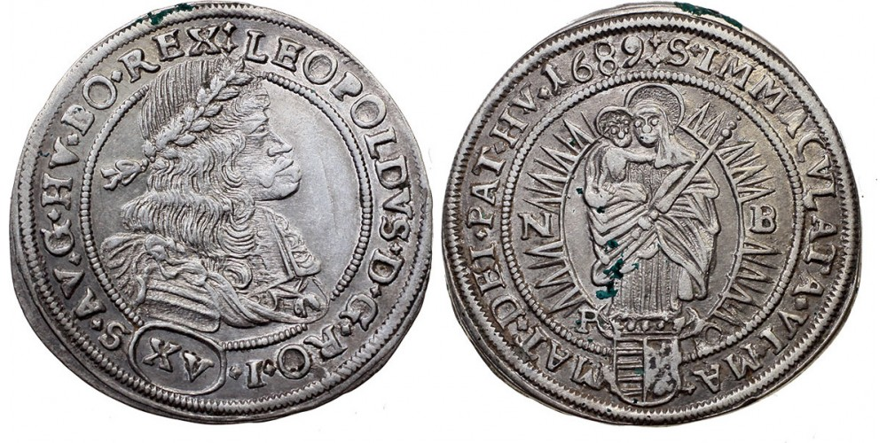 I.Lipót XV krajcár 1689 NB-PO