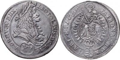 I.Lipót XV krajcár 1696 C-M Kassa