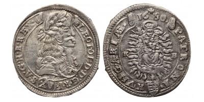 I. Lipót XV krajcár 1680 KB