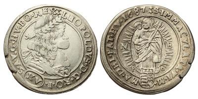 I.Lipót XV krajcár 1687 NB/PO
