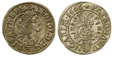 I.Lipót 3 krajcár 1666 KB
